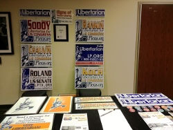 Photo of table at 2014 national convention
